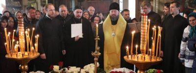 Епископ Губкинский совершил литию по новопреставленному старейшему клирику епархии