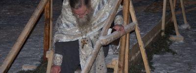 Солдаты, офицеры и жители военного городка Белгород-22 совершили крещенские купания
