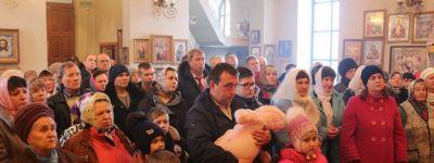 В неделю о блудном сыне епископ Губкинский совершил Божественную литургию в храме Успения Пресвятой Богородицы села Верхопенье
