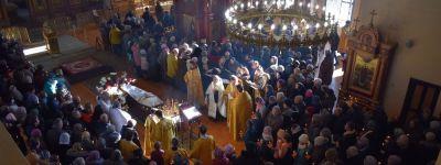 Епископ Валуйский совершил в Алексеевке заупокойную службу по усопшему священнику