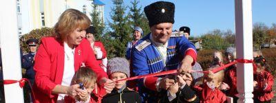 В православном детском саду «Сретенский» открылась площадка «Казачий хуторок»