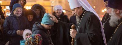 Белгородский митрополит совершил Божественную литургию по случаю престольного праздника в Введенском храме города Белгорода
