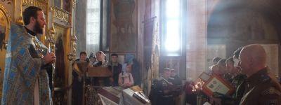 Казаки Белгородского казачьего округа приняли присягу в Петро-Павловском храме на Прохоровском поле