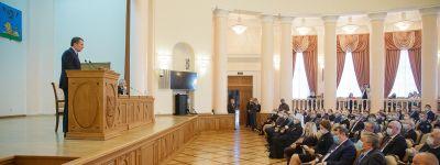Митрополит Белгородский принял участие в представлении врио губернатора Белгородской области