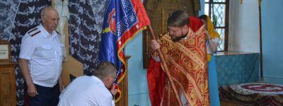 В Покровском храме освящено казачье оружие и знамя Сретенского Казачьего общества