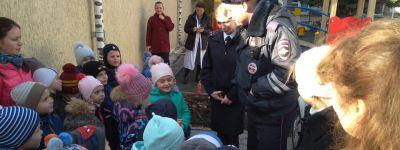 В белгородском православном детском саду завершилась тематическая неделя знакомства с профессией полицейский
