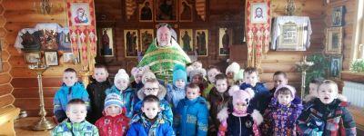 В день памяти святой блаженной Ксении Петербургской храм Рождества Христова посетили воспитанники детского сада в Рождествено