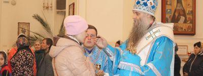 Епископ Валуйский совершил Всенощное бдение накануне праздника Благовещения