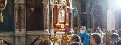Школьники из посёлка Северный побывали в храме Архистратига Михаила в Борисовке