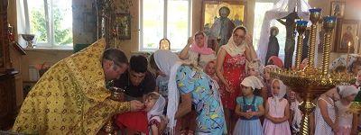 Божественную Литургию для воспитанников православного детского сада «Сретенский» совершили в Сретенском храме в Строителе