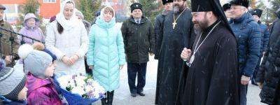 В праздник Сретения Господня епископ Губкинский совершил Божественную литургию в Сретенском храме