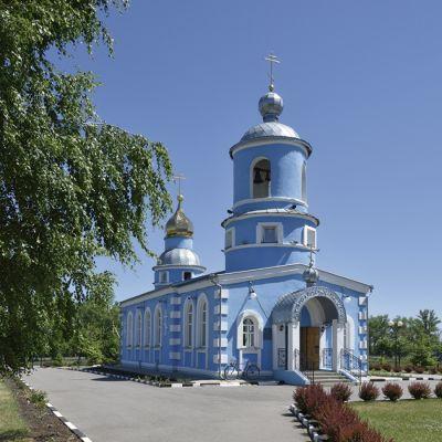 Храм Сретения Господня в городе Строитель