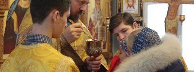 Последнюю в уходящем году литургию отслужили в храме в Белгородской семинарии