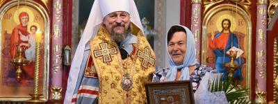 Белгородский митрополит поздравил главу села Плоское с 70-летием