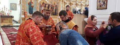 Епископ Валуйский совершил литургию в Неделю Жён-мироносиц в кафедральном соборе епархии